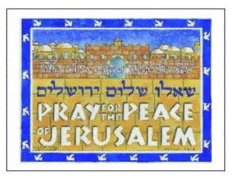 Pray for the Peace of Jerusalem II